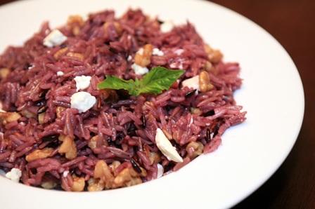 Purple Rice with Walnuts